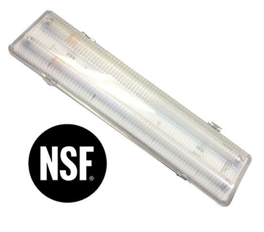 Ironclad Fluorescent Vapor Tight Fixtures Recieve NSF Rating Shat R Shield